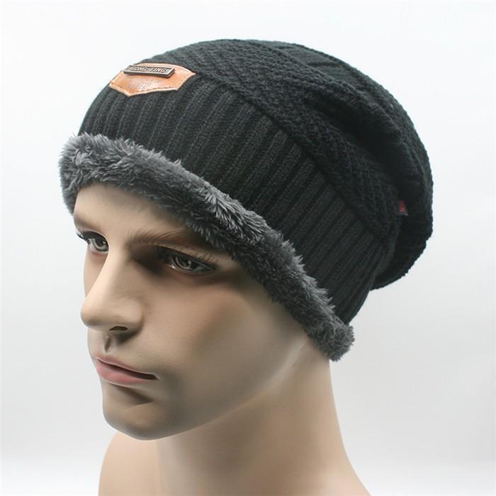 Unisex hombres mujeres de sombrero invierno gorro de lana caliente holgado  gorra de esquí caliente a05b0d3f40c
