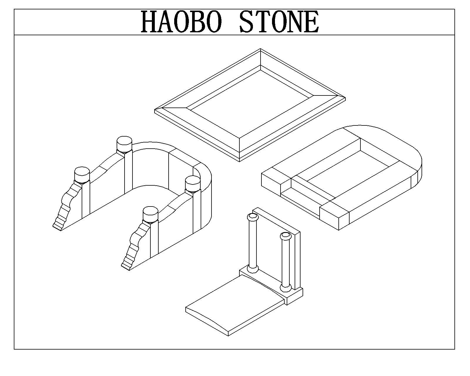 Haobo Stone G654 Chinese Granite Asian Tombstone