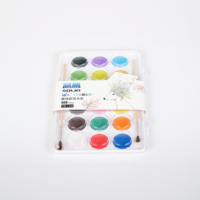 factory supply High quality wholesale 18 colors solid watercolor paint set for drawing