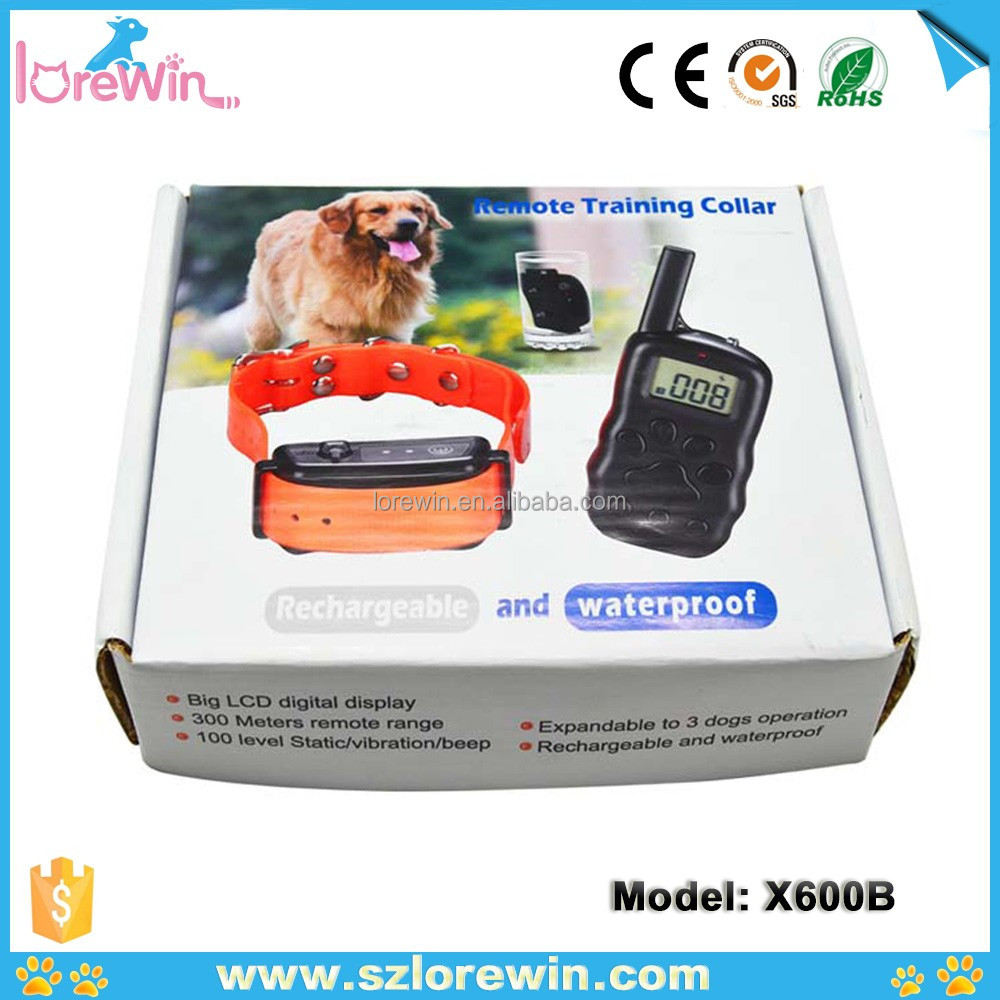 LoreWin X600 electric dog collar 2017 Newest automatic smart pet feeder Shock Collar Electronic Dog Bark Vibration Controller
