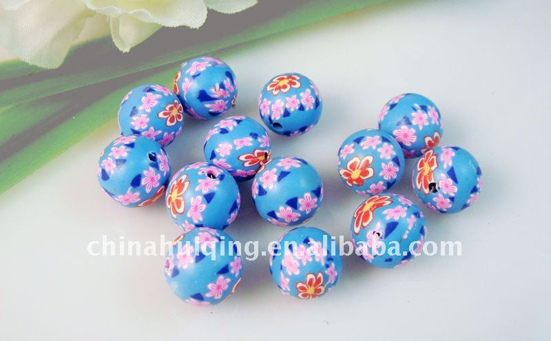 DIY oven-bake polymer clay beads doll for accessories