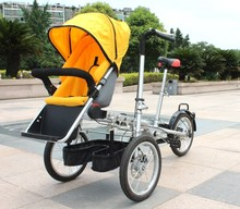Double Seat Bike Multi-Function Mother Baby Stroller