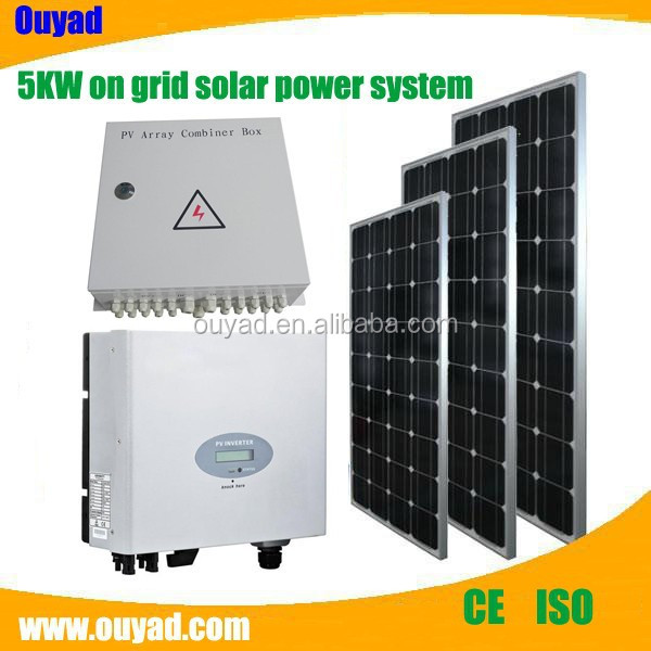 5KW off-grid solar power system for small homes on grid ...