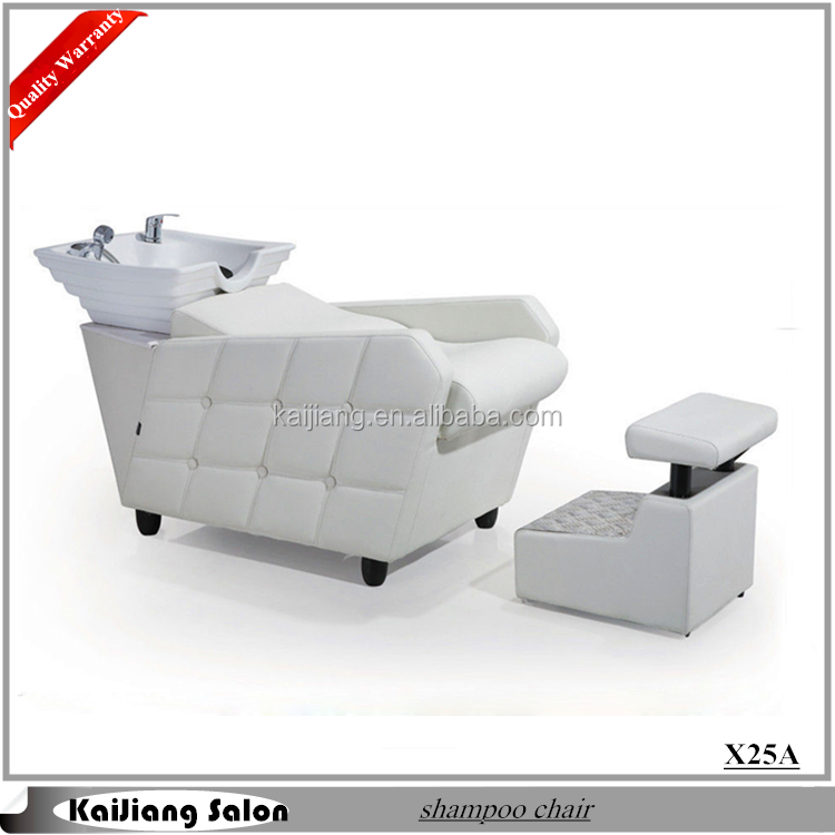 Witte kleur kapsalon wastafels shampoo kom stoel kapsalon meubelen x25a kapper stoelen product - Witte kapper ...