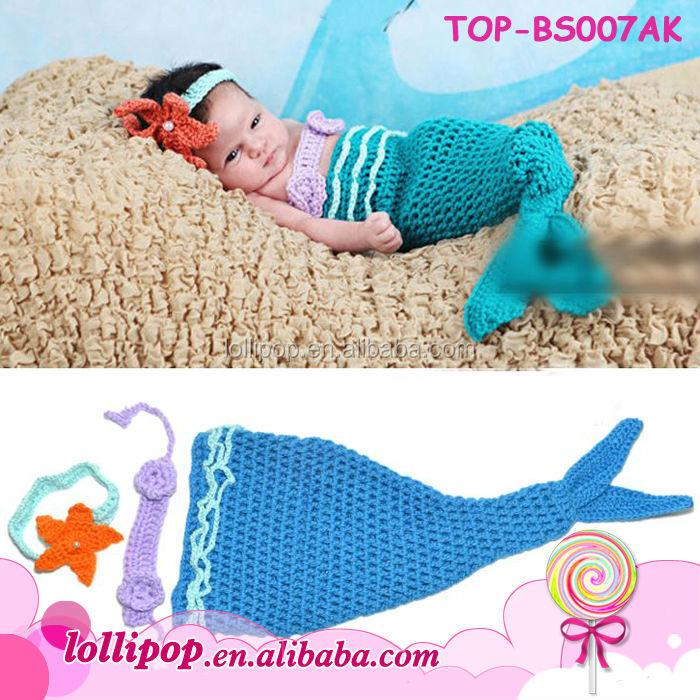 Vistoso Sirena Bebé Patrón De Ganchillo Capullo Embellecimiento ...