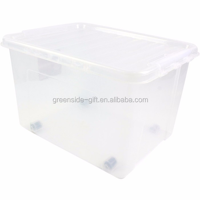 Greenside Hot sale 45L custom clear plastic storage box