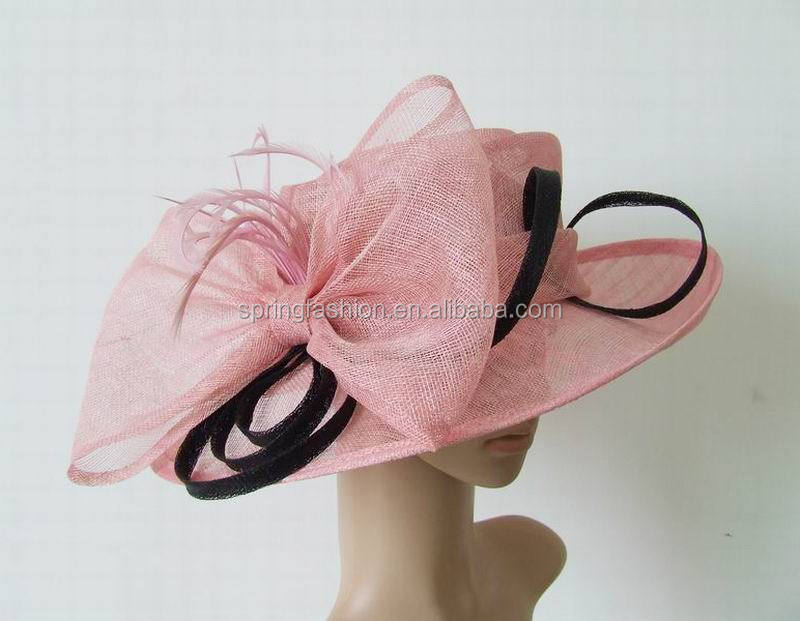 ef8c1641ef New arrival pink sinamay hat church hat party hat