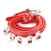 New Design Christmas Pet Dog Leash Santa Claus Dog Collars Lovavle Puppy Cat Collars With Bell
