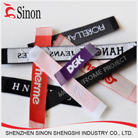 woven garment label,brand name 100% polyester label fabric printed clothing label