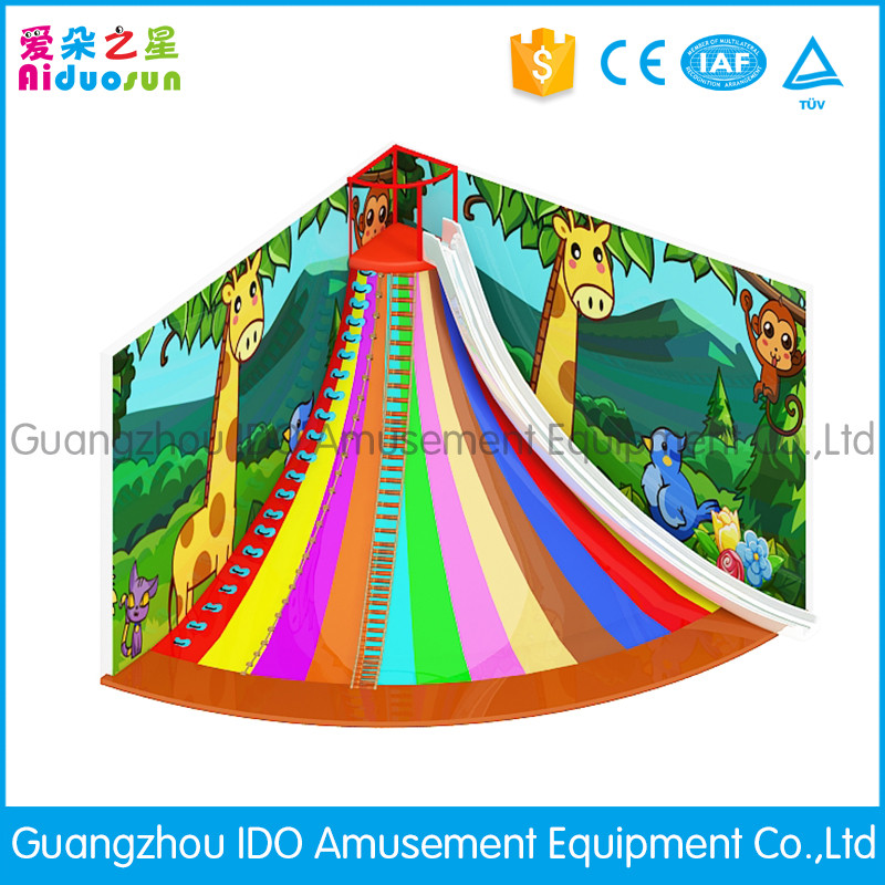 New design CE approved kids playground volcano