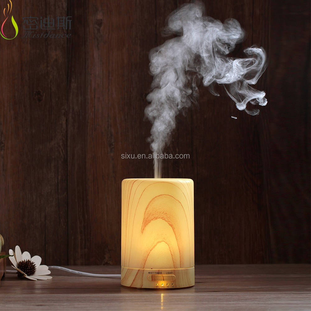 Popular wood essential oil diffuser ultrasonic aromatherapy diffuser with LED 2017