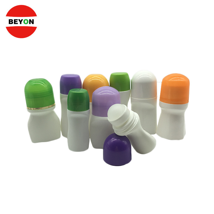 Fashion Empty 30ml 40ml 50mi Cosmetic Roll On Plasti Bottle