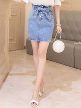 Lady and Woman Vogue Casual Bowkhot design denim jeans Skirts