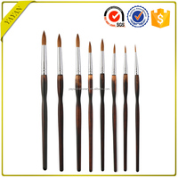 High-end 8PCS Siberia Sable Hair Oil Watercolor Painting Brush for Drawing