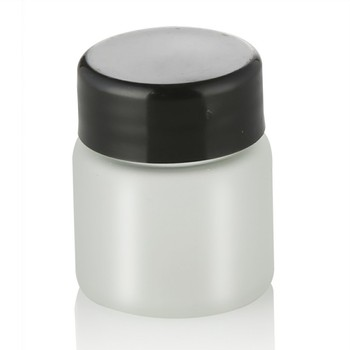 30g 50g cosmetic tubes packaging  frosted face cream glass jar with plastic cap