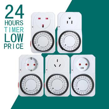 Socket Timer Mekanik 24 Jam Hemat Energi Listrik Timer Mekanik Soket Waktu  Saklar Untuk Peralatan Rumah - Buy Timer Socket,Switch Timer,Timer Mekanik