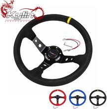 Ryanstar Universal 350mm Suede Racing Steering Wheel