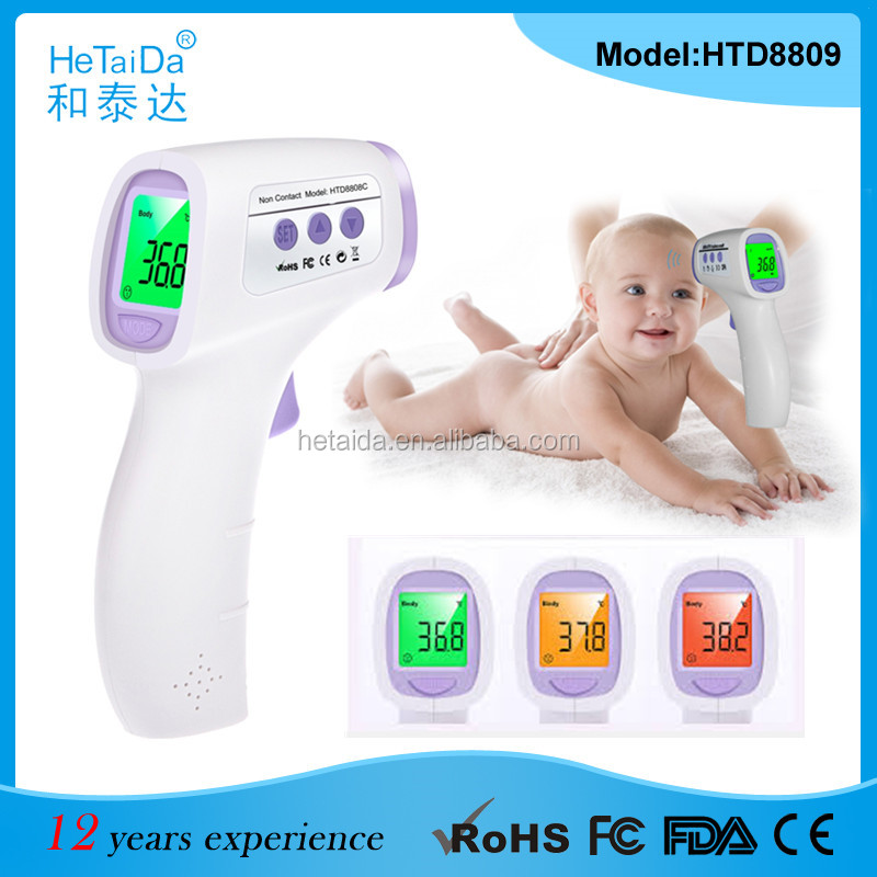 2016 neue HTD8809C Digitale Stirn Thermometer Wireless Smart Baby Haustier Tierfutter Thermometer Berührungslose Infrarot-Thermometer