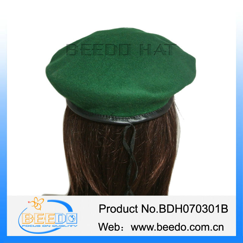 Wholesale faux wool men army beret hat