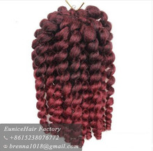 Beautiful hair 2X Bounce Twist Braid synthetic crochet braids on weft bouncy wand curl two colored synthetic braiding hair