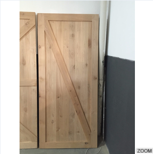 Rustic Style Unfinished Knotty Alder Solid Wooden Barn Doors