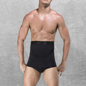 Men High Quality Black High Waist Abdominal Control Slimming Pants Body Shaper