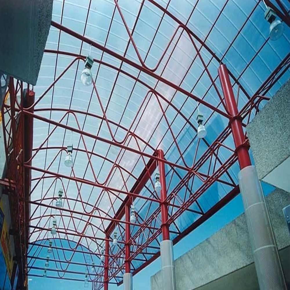 Casa de paneles para techos de frp de fibra de vidrio de for Paneles de fibra de vidrio