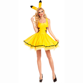 Pokemon Pikachu Women s Cosplay Costumes For Christmas Party - Buy ... 2726ff189