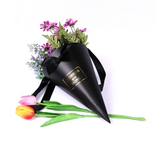Unique design cardboard luxury gift packaging flower cone box