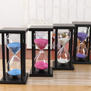 30 Min 45 60 Wooden Hourgl Crystal Sand Timer Creative Home Furnishing Craft Gift