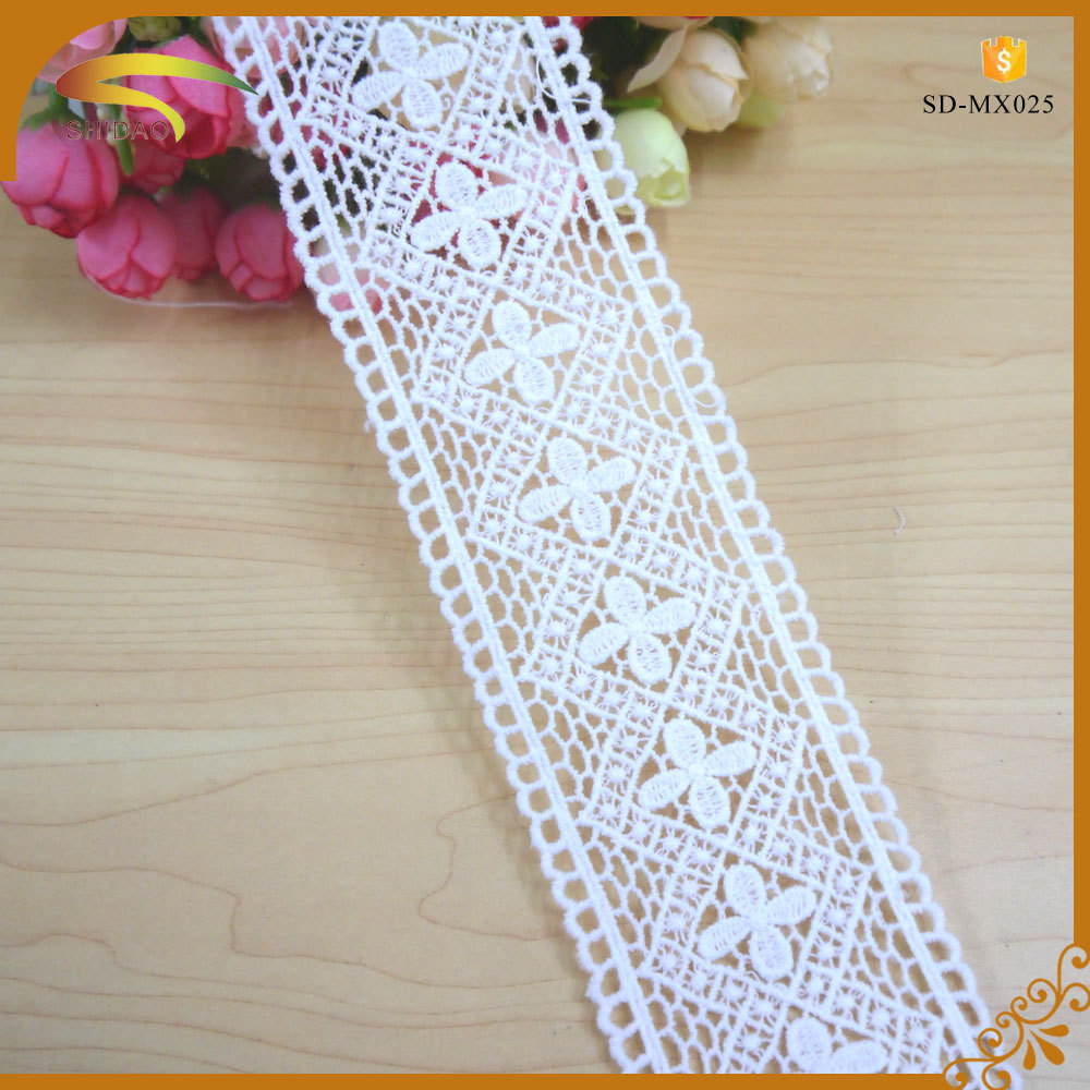 100 Cotton Material Italian Guipure Embroidery Designs