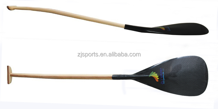 2017 New Carbon Blade Outrigger Surfboard paddle With Wood shaft from China