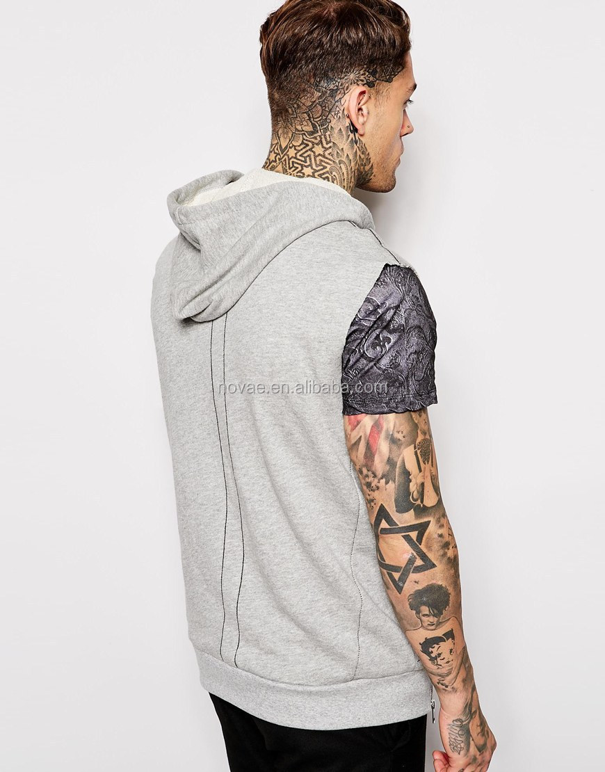 Fashionable Blank Short Sleeve Hoodies Men Summer T Shirt With ...