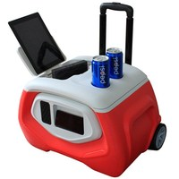 camping trolly cool box with speaker