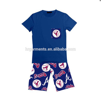 Wholesale Boys boutique clothes .Baseball pattern printed boys Suit Children  Clothes Baby boys Clothing set 5c1b90221