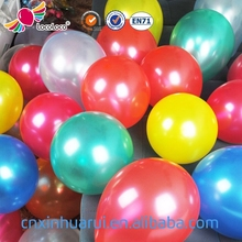 Hot selling OEM chinese new year 10 inch metallic latex helium balloons