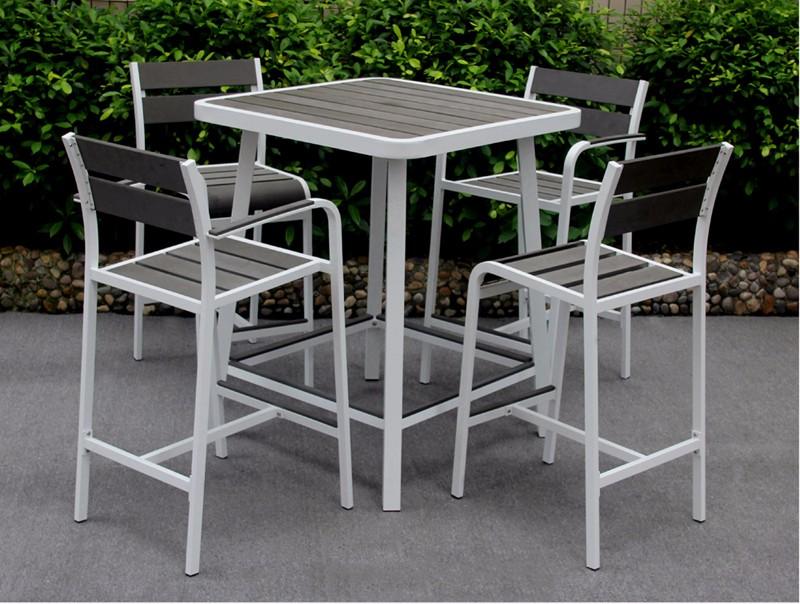 Hochwertige Outdoor Club Poly Holz Bar Tisch Für Bistro Möbel Kleine ...