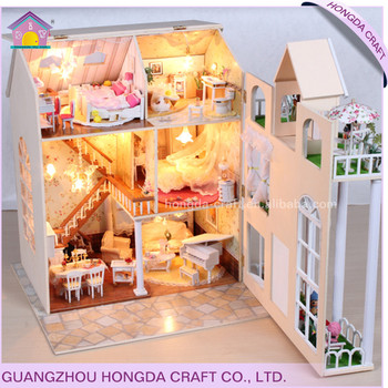 Wholesale With Light Diy Wooden Miniature Dollhouse Items View