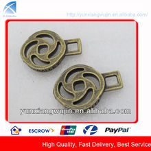 CD8242 Fashion Custom Antique Brass Metal Zipper Sliders Pullers
