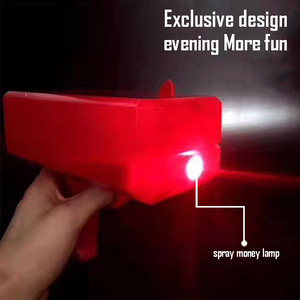 LED light Money guy toy for adult or children spray cash cannon shot for money gun and celebration toy with detachable battery