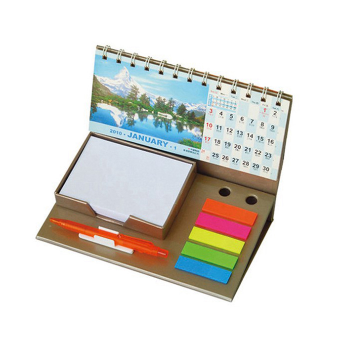 Wire bound high quality custom printing desk calendars