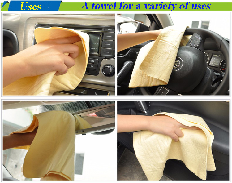 Hot Sale Natural Chamois leather car pva chamois towel