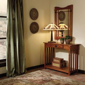 Powell Mission Oak Console & Mirror