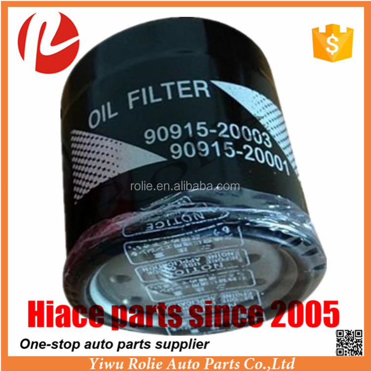Car Auto Spare Parts Oil Filter 90915 for Toyota Hiace 2005 Parts