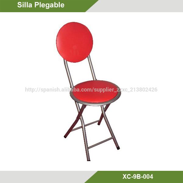 Silla plegable barato xc 9b 004 metal tapizado sillas for Tapizados para sillas de cocina