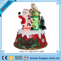 Christmas led lighted Santa Claus and mini house bulk buy Chirstmas gift for kids, indoor Christmas lighting decorations