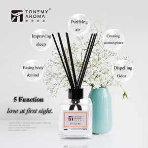 Tonemy Aroma reed diffuser 120ml diffuser bottle, 120ml diffuser refill with reed sticks