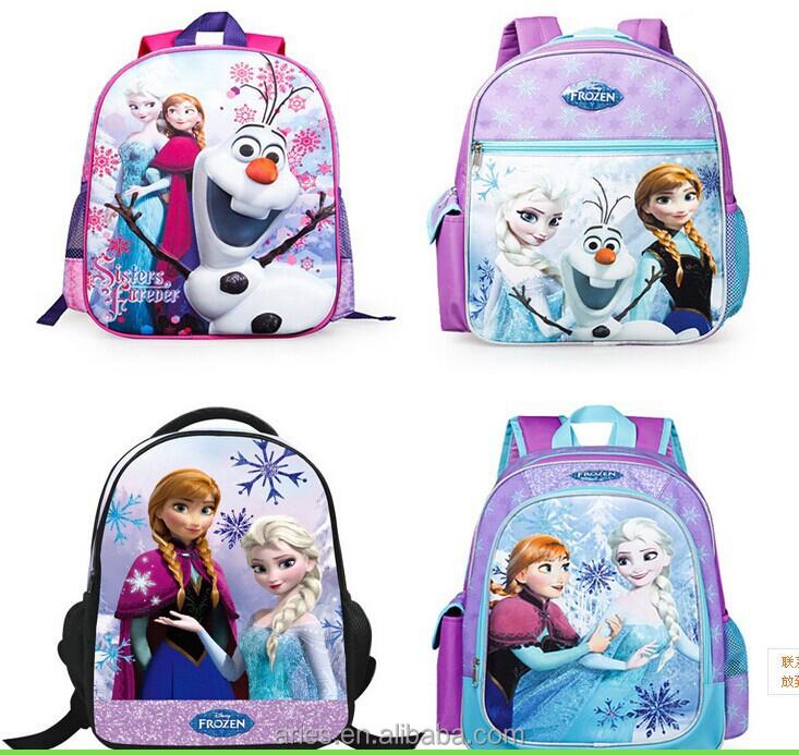 3D Frozen Children School Bags Princess Anna Elsa Cartoon Backpack For  Girls Boys 1c8bc4d011b17