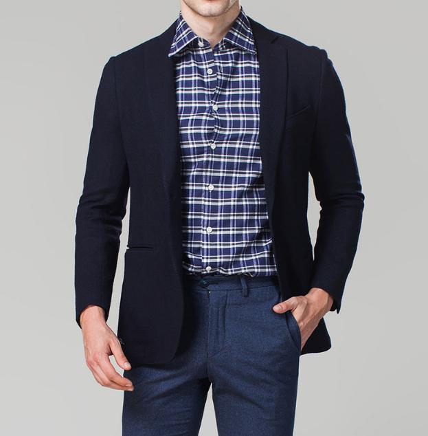 43655e8778cbd Moderno MTM chaqueta de los hombres ocasionales adelgazan