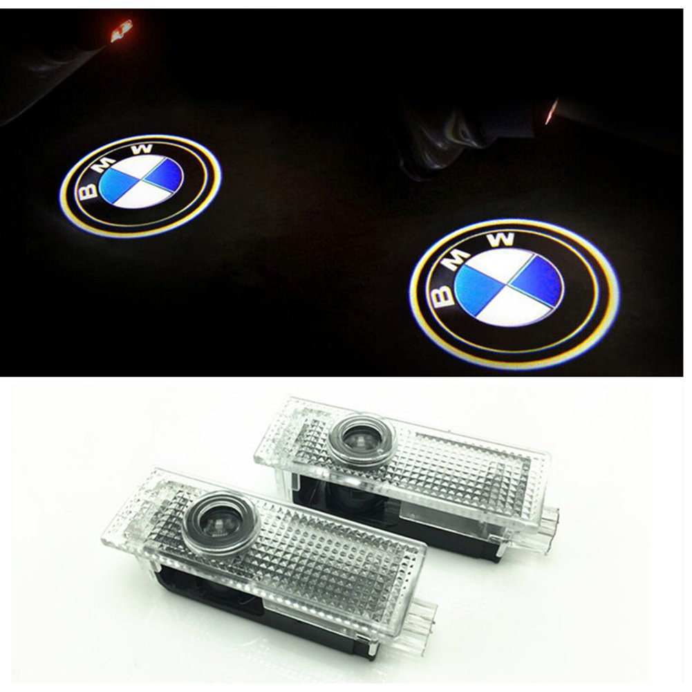 DELEIKA BMW Easy Installation Car Door LED Logo Projector Ghost Shadow  Lights Courtesy Courtesy Step Lights